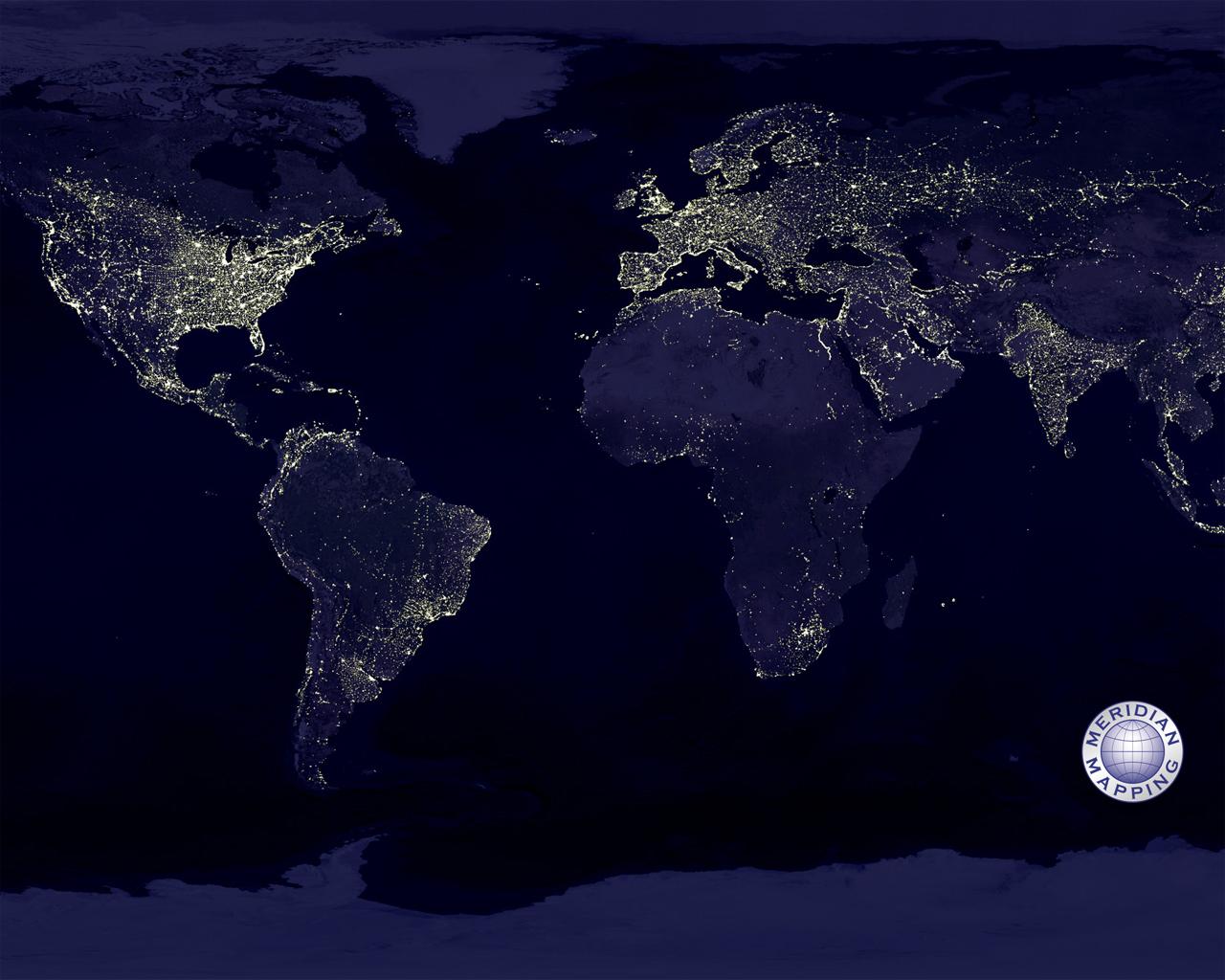 Earth's City Lights 1280x1024