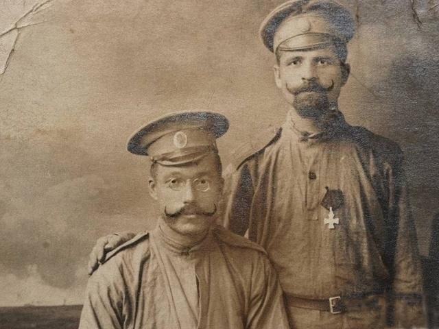 Фото рядовых 117-го пехотного полка периода Первой мировой войны 1