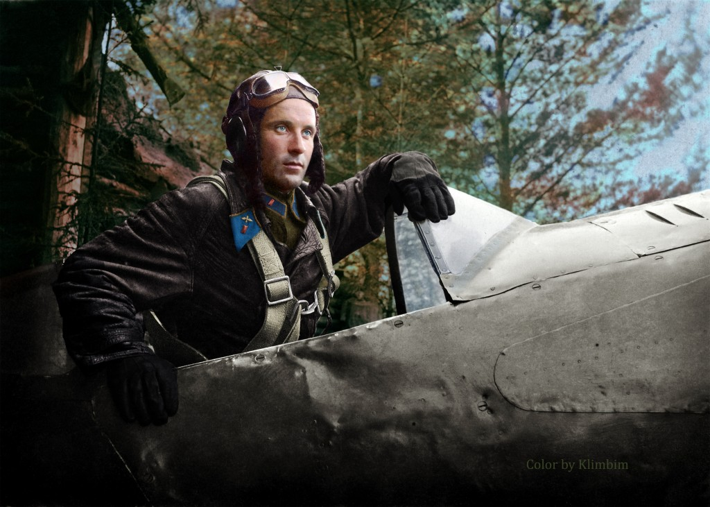 Air squadron commander of the 124th Fighter regiment Alexander P